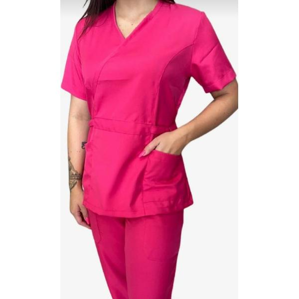 Conjunto Cirurgico Feminino em Microfibra Pink