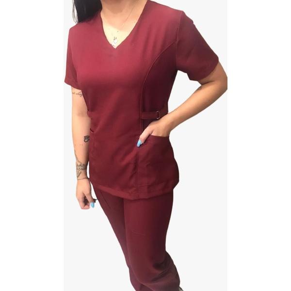 Conjunto Cirurgico Feminino em Microfibra Rubi