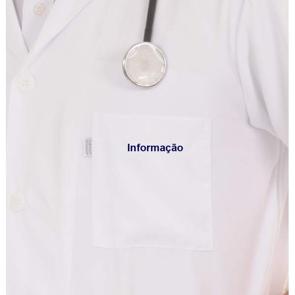 informação bordado azul marinho - Bolso
