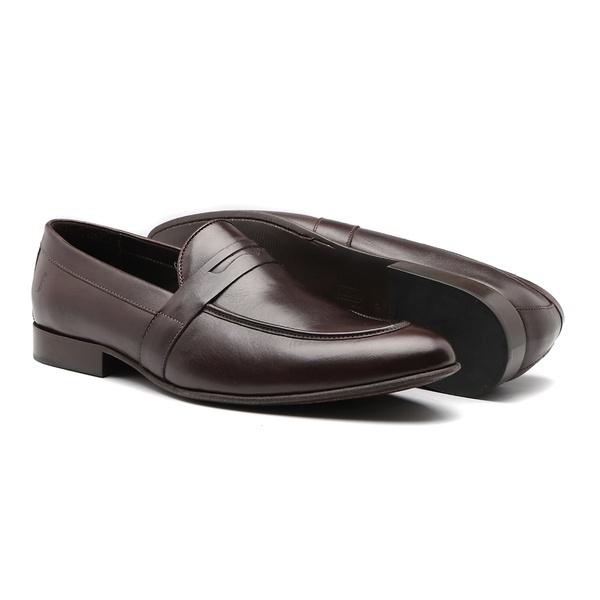 Sapato Masculino Mocassim Napa Liso Gravata Mouro