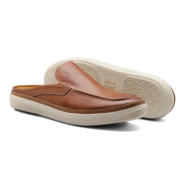 Sapato Masculino Mule Cashemere Amêndoa Claro