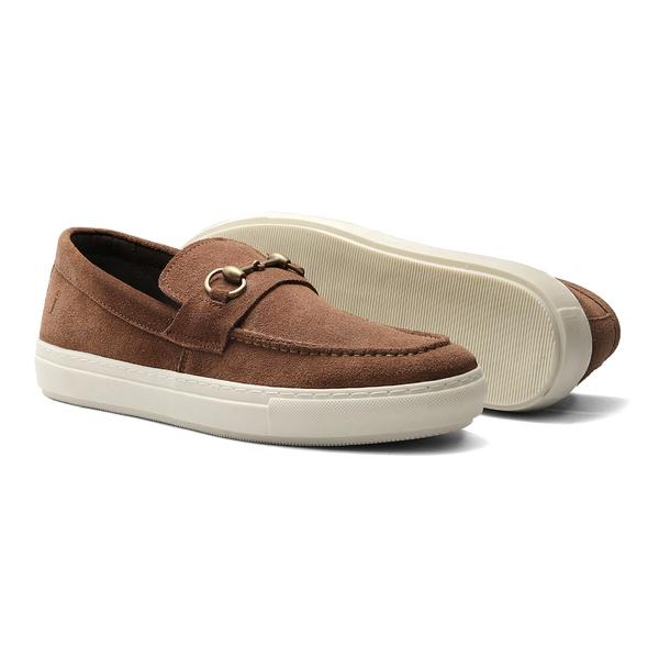 Sapato Masculino Sider Camurça Bridão Ouro Canela