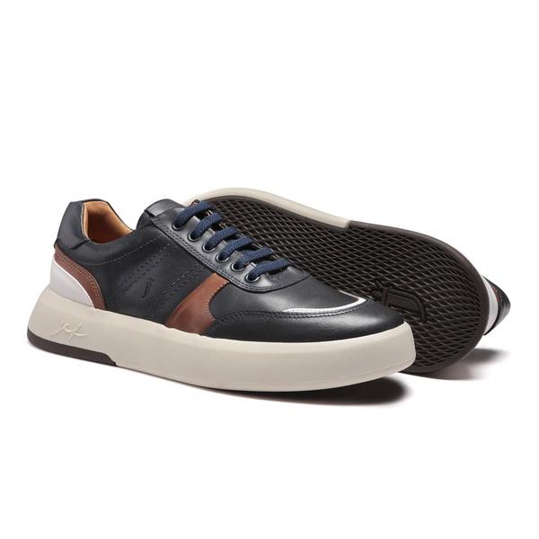 Sapato Masculino Sneaker Recortes Look Marinho