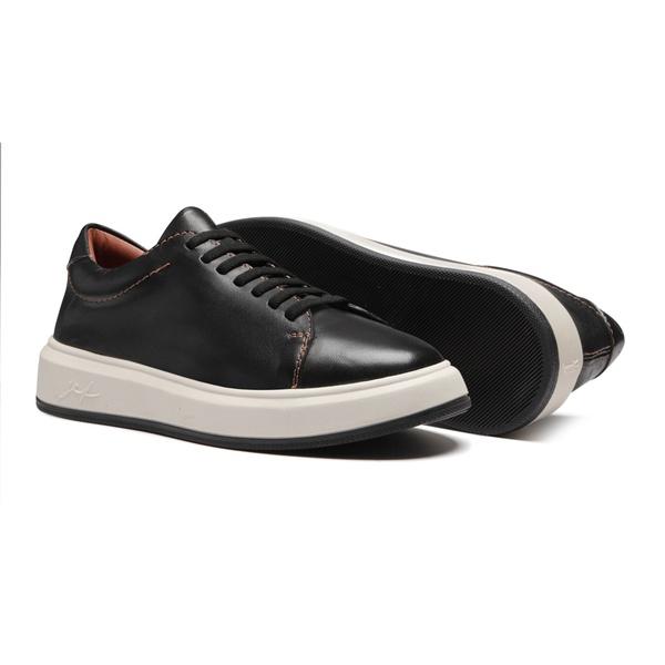 Sapato Masculino Sneaker Liso Parma Preto