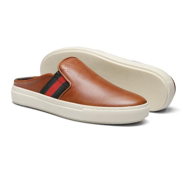 Sapato Masculino Mule Vgt Gc Amendoa