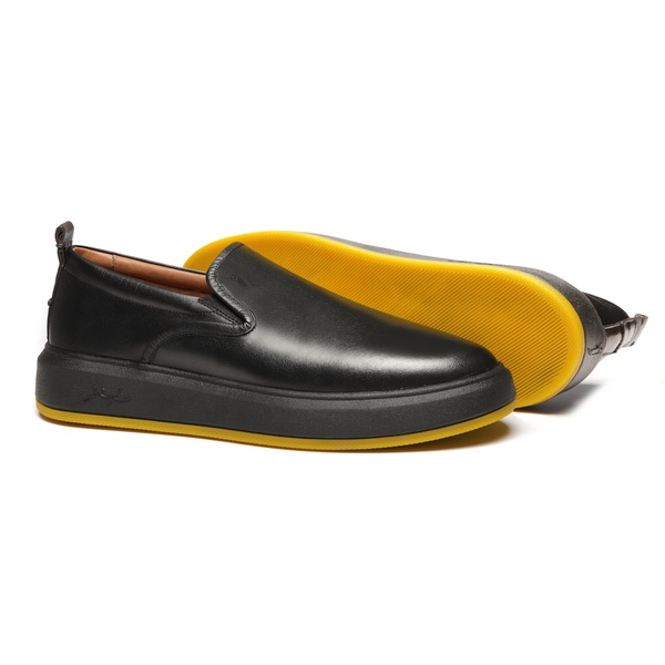 Sapato Masculino Yacht Liso Mestiço Preto