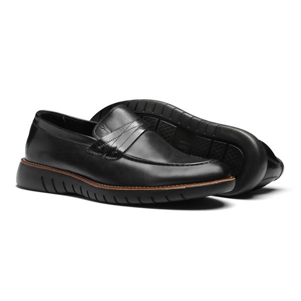 Sapato Masculino Mocassim Casual Gravata Cruzada X Felicita Preto