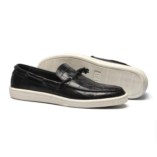 Sapato Masculino Sider Croco Tento No Preto