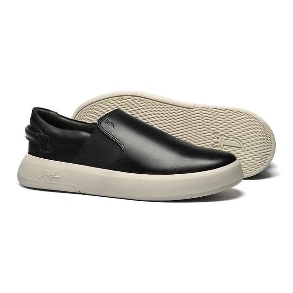 Sapato Masculino Yatch Det. Traseira Look Preto