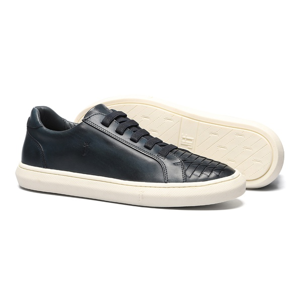 Sapato Masculino Sneaker Bico Tresse Napa Marinho