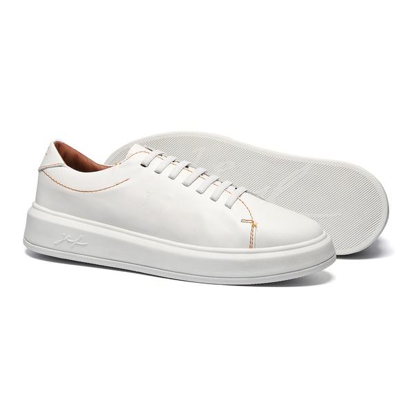 Sapato Masculino Sneaker Liso Parma Branco