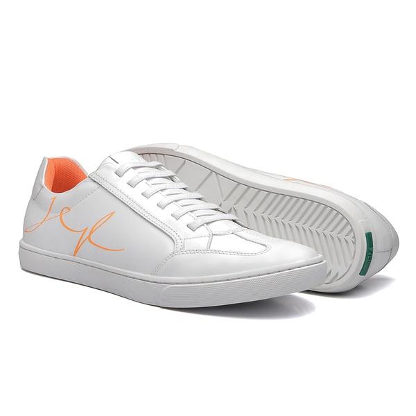 Sapato Masculino Sneaker Assinatura Jef Look Branco