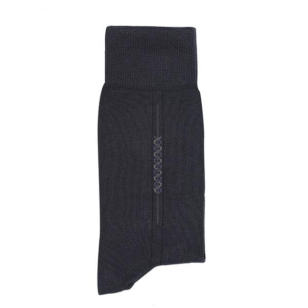 Meia Sportwear Bordado Zigzag Marinho