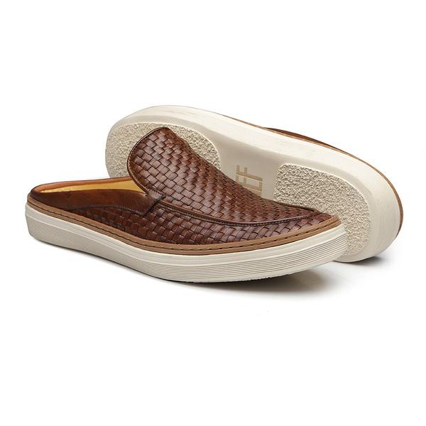 Sapato Masculino Mule Napa Tresse Whisky