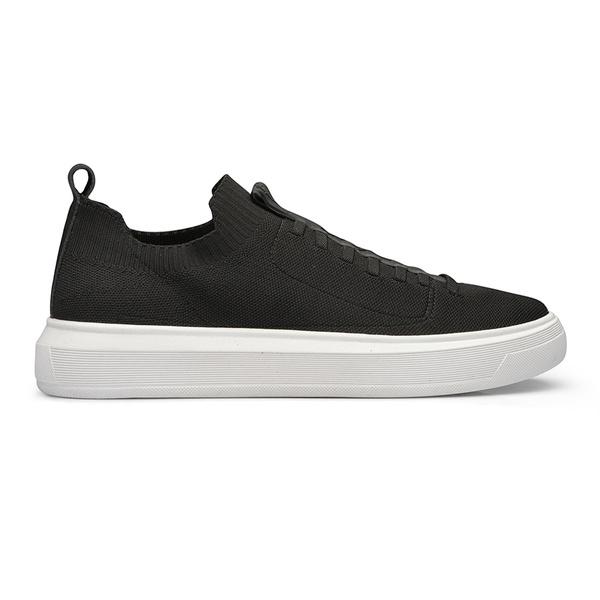 Sneaker Masculino Knit Assinatura Jef Preto