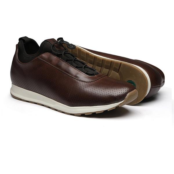 Sapato Masculino Sneaker Jogging Look Lycra Elástico Mouro