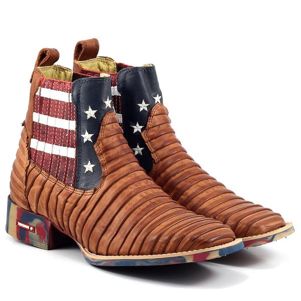 Botina Texana Tatu Estados Unidos