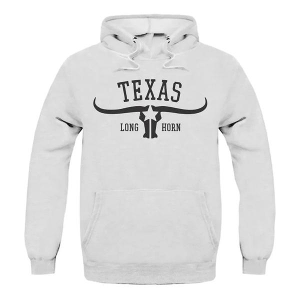 Moletom Texas Long Horn - Branco