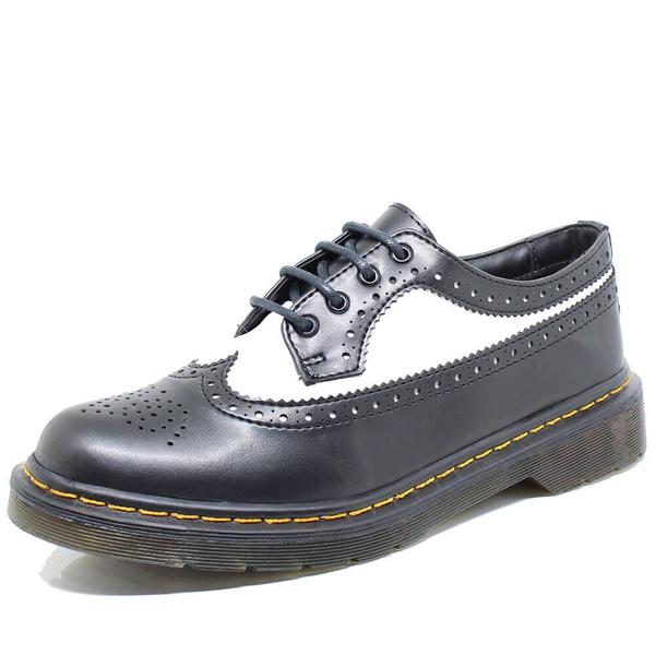 Sapato Oxford Estilo Veggie Rolly Preto Branco