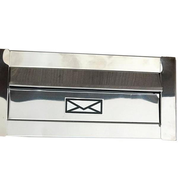Caixa de Correio de Embutir Inox 1/2Tij.