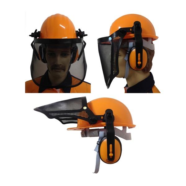 Capacete SeguranÇa C/protetor Facial/abafador