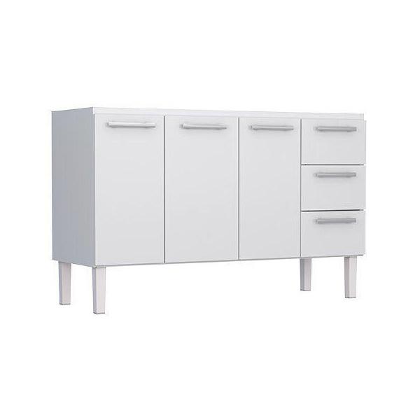 Armário De Cozinha Em Aço Vênus Flat 1,50 Cozimax Branco
