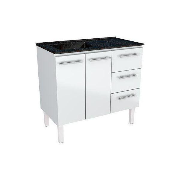 Armário de Cozinha em Aço Vênus Flat 1,20 Cozimax Branco