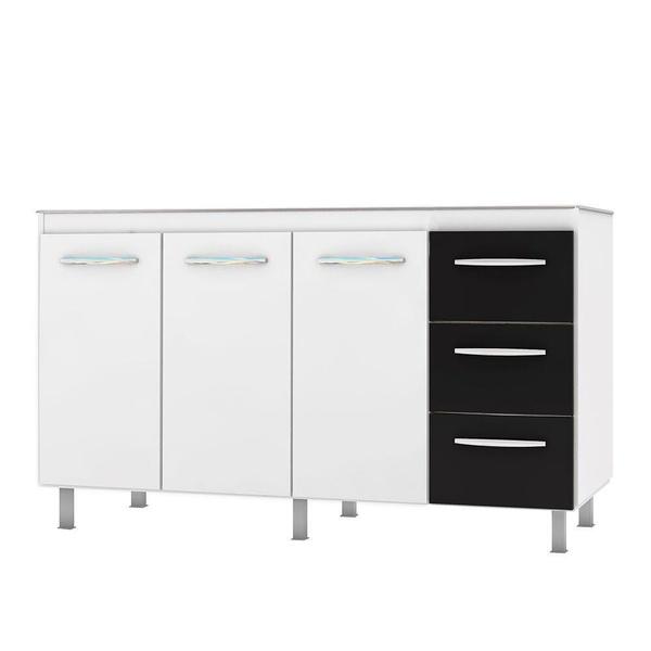 Armário de Cozinha em Aço Vênus Flat 1,50 Cozimax Preto