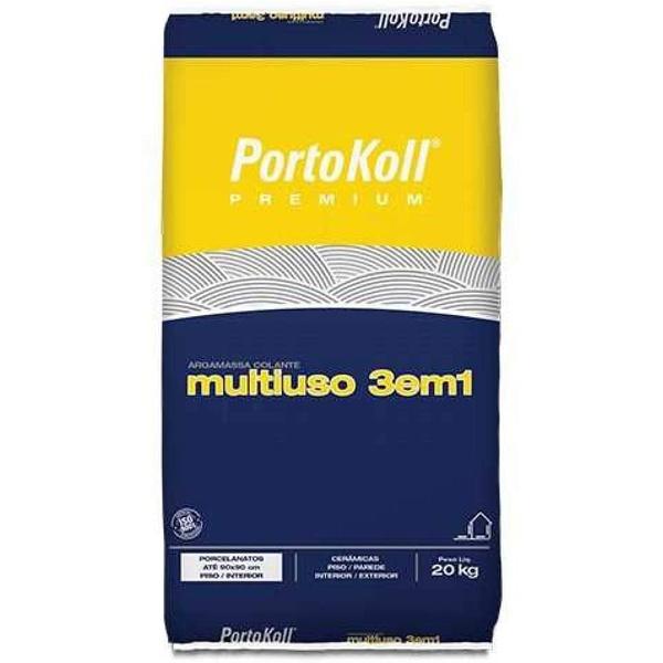Argamassa Portokol Multiuso 3 Em 1 Interna Cinza 20 Kg