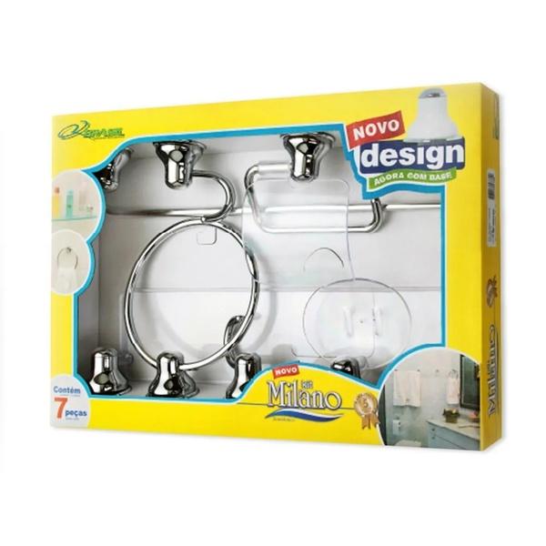 Kit Acessórios Banheiro Rf-brasil 7 Pçs