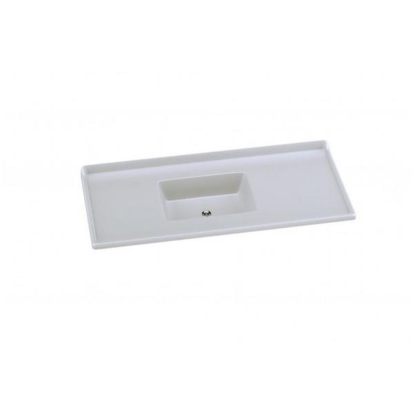 Pia Sintética Standart Granitada A.j. Rorato 1,20m - Branca