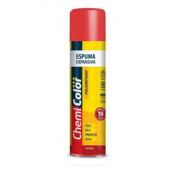 Espuma Expansiva Poliuretano 500ml/340g Rende Até 11 Litros Marca Chemi Color