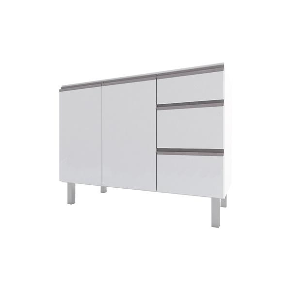 Armário de Cozinha em Aço 1,40 Gaia Flat Cozimax Branco