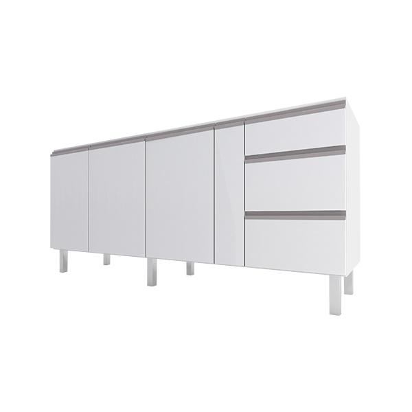 Armário de Cozinha em Aço 1,80 Gaia Flat Cozimax Branco
