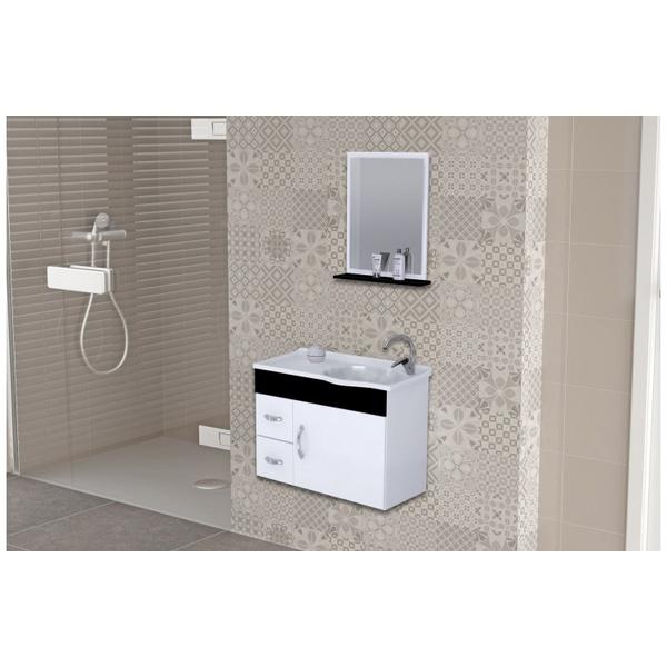 Gabinete De Banheiro A.j. Rorato Siena Preto 55,0cm