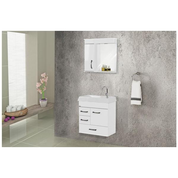 Gabinete De Banheiro A.j. Rorato Pádua Branco 59,5cm