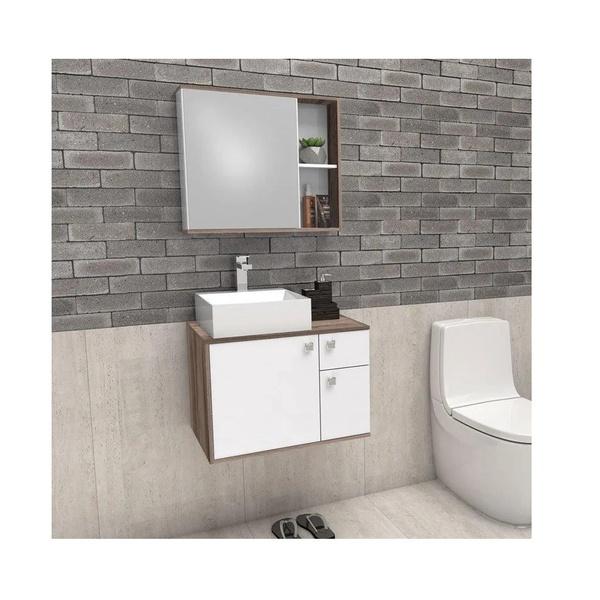 Gabinete De Banheiro Cozimax Caeté Branco Tamarindo 60,0cm