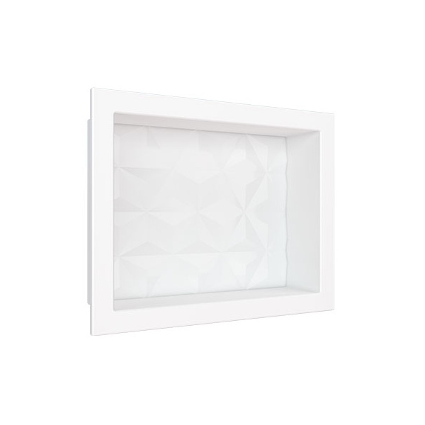 Nicho em Mármore Sintético 40×30 Branco