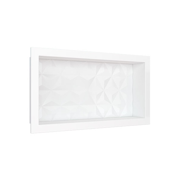 Nicho em Mármore Sintético 60×30 Branco