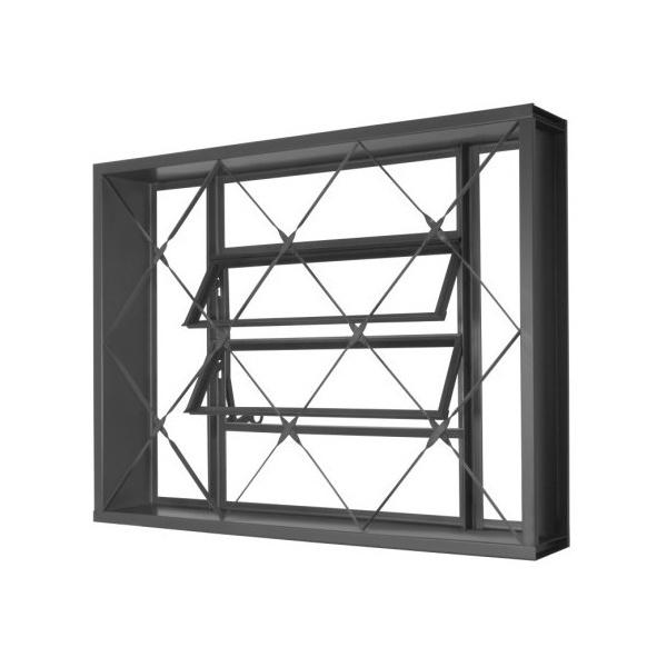 Vitrô Basculante 80x60 C/ Grade