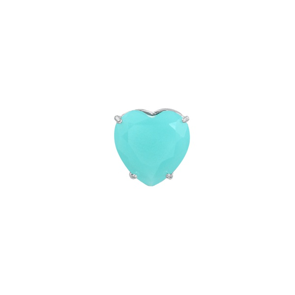 Pingente Coração Zircônia Azul Claro em Prata 925