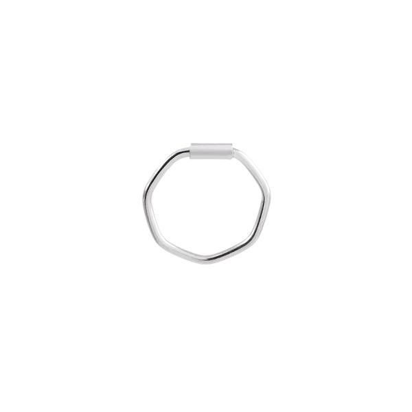 Piercing Furo Hexágono (0,9cm) em Prata 925