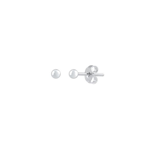 Brinco Bolinha 3mm em Prata 925