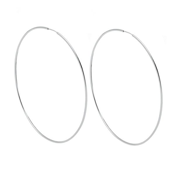 Argola Lisa 9cm em Prata 925