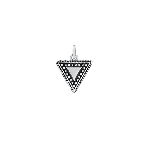Pingente Triângulo Envelhecido em Prata 925