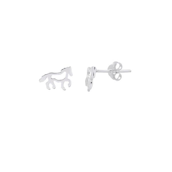 Brinco Cavalo em Prata 925