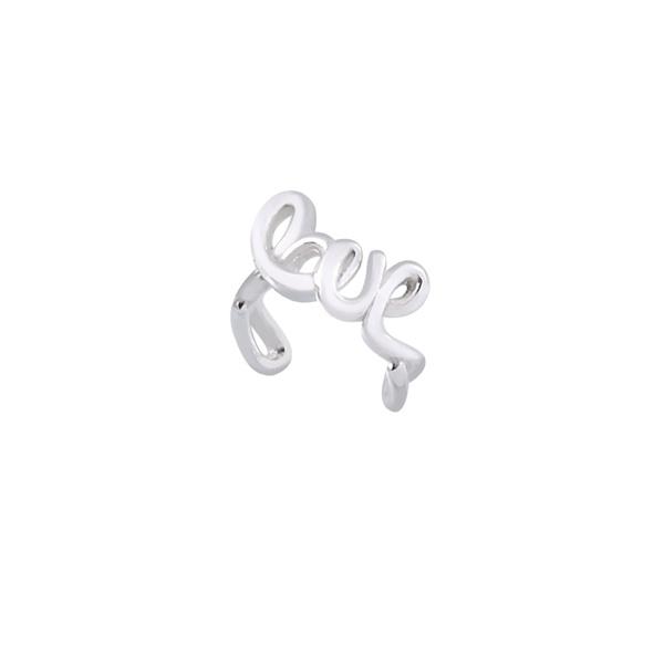 Piercing Love Pressão em Prata 925
