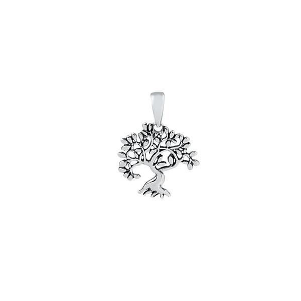 Pingente Árvore da Vida Envelhecido em Prata 925