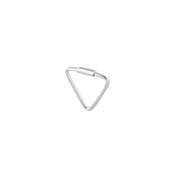 Piercing Furo Triângulo (1cm) em Prata 925