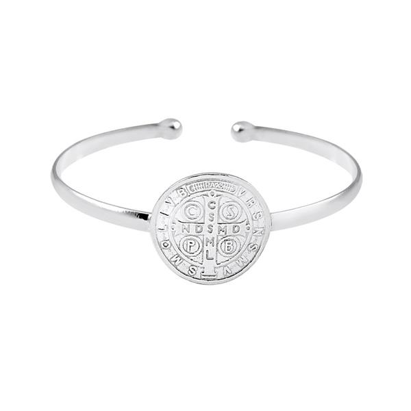 Bracelete São Bento Ajustável em Prata 925